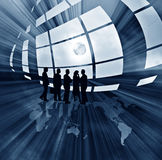 Abstract business illustration with globe Stock Images