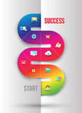 Abstract business info graphics template with icons. Royalty Free Stock Images
