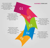 Abstract business infographic. For any business use Royalty Free Stock Images