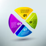 Abstract business infographics design elements. For pie charts options and choice vector illustration Stock Images