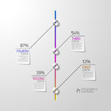 Abstract business infographics element Stock Image