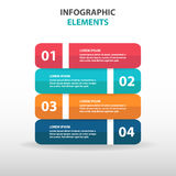 Abstract business Infographics elements, presentation template flat design vector illustration for web design marketing advertisin Royalty Free Stock Photography