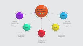 Abstract business infographics in the form of colored figures connected with each other by lines and steps. EPS 10. Abstract business infographics in the form Stock Photo