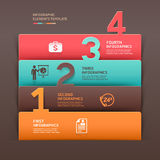 Abstract business infographics number template. Stock Photo
