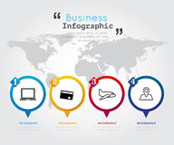 Abstract Business Infographics Options Template. Abstract Business Infographics Options Template Stock Photos