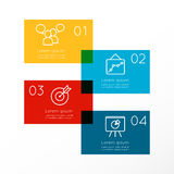 Abstract Business Infographics Options Template. Abstract Business Infographics Options Template Royalty Free Stock Photo