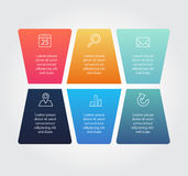 Abstract Business Infographics Options Template. Abstract Business Infographics Options Template Royalty Free Stock Photos