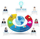 Abstract business infographics options template. Royalty Free Stock Photos
