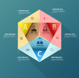 Abstract business infographics options template. Stock Photo