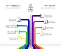 Abstract business Infographics in tree shape. Tree infographic w Stock Images
