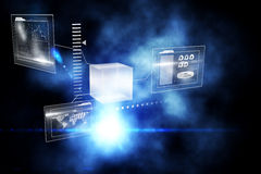 Abstract business interface Stock Image