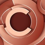 Business layout of circle shapes in beige and brown shades Royalty Free Stock Photo