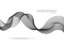 Abstract business line wave background Royalty Free Stock Photography