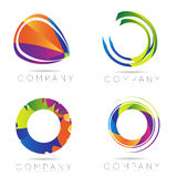 Abstract Business logo. Abstract colored business logo icon set Royalty Free Stock Photography