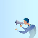Abstract Business Man Hold Megaphone Loudspeaker Digital Marketing Concept Royalty Free Stock Photography