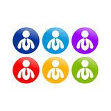 Abstract Business Man Round Graphic Icon Set Design. Abstract Business Man Round Vector Symbol Graphic Icon Set Design Stock Image