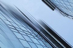 Abstract business modern city urban futuristic architecture background. Real estate concept, motion blur, reflection in stock image