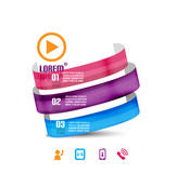Abstract business modern ribbon background. This is file of EPS10 format vector illustration