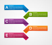 Abstract business options infographics template. Stock Image