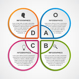 Abstract business options infographics template. Royalty Free Stock Image
