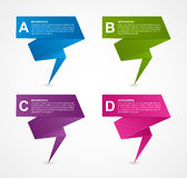 Abstract business options paper infographics template. Royalty Free Stock Photos
