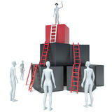 Abstract business progress, development, success, leadership and Stock Photo