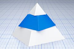 Abstract business pyramid concept. 3D rendering. Abstract business pyramid concept. 3D Stock Photography