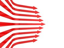 Abstract business red arrows background Royalty Free Stock Images