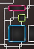 Abstract business ribbons frames background Stock Photography