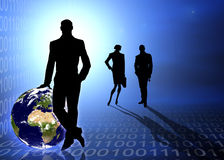 Abstract business and IT scene Stock Image