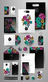 Abstract  business set. Corporate identity templates Royalty Free Stock Photography