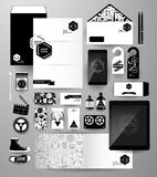 Abstract  business set in hipster style Royalty Free Stock Images