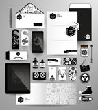 Abstract  business set in hipster style Royalty Free Stock Photos