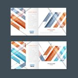 Abstract business square brochure design. Modern line cover template royalty free illustration