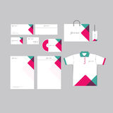 Abstract business stationery template. Business  stationary company style identity Stock Photography