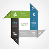Abstract business steb origami options banner. Stock Photography