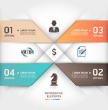 Abstract business steb origami options banner. Royalty Free Stock Images
