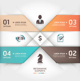 Abstract business steb origami style banner. Stock Images