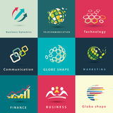 Abstract business and technology icons. Set Royalty Free Stock Image