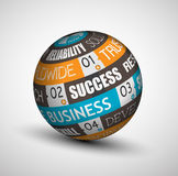 Abstract Business technology sphere of ideas. Royalty Free Stock Photography