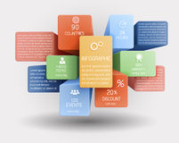 Abstract business template. Abstract business backgound, 3d cubes and boxes royalty free illustration