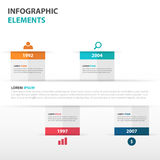 Abstract business timeline Infographics elements, presentation template flat design vector illustration for web design Royalty Free Stock Photo