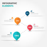 Abstract business timeline raodmap Infographics elements, presentation template flat design vector illustration for web design Royalty Free Stock Photography