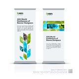 Abstract business vector set of modern roll Up Banner stand desi Stock Image