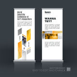 Abstract business vector set of modern roll Up Banner stand desi Stock Images