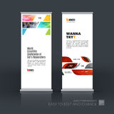 Abstract business vector set of modern roll Up Banner stand desi Royalty Free Stock Photography