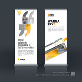 Abstract business vector set of modern roll Up Banner stand desi stock illustration