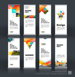 Abstract business vector set of modern roll Up Banner stand desi Royalty Free Stock Image