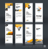 Abstract business vector set of modern roll Up Banner stand desi Stock Photography