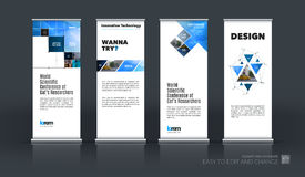 Abstract business vector set of modern roll Up Banner stand desi Royalty Free Stock Photos